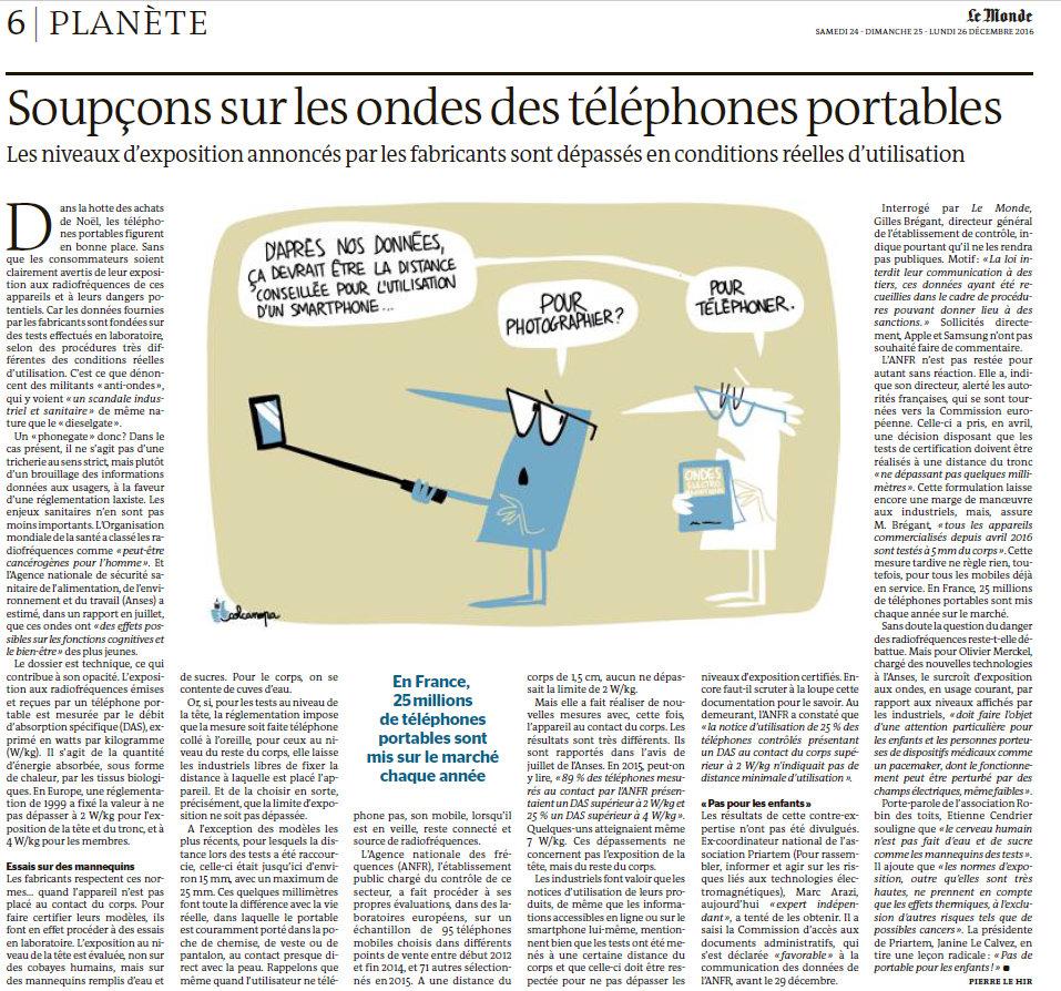 Article Le Monde 23 décembre 2016