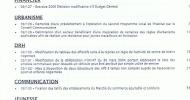 Ordre du jour du conseil municipal du 2 juillet 2009