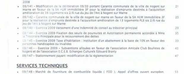 Ordre du jour du Conseil Municipal du lundi 12 octobre et informations municipales en ligne