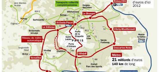 Grand Paris: pas un euro budgété entre 2013 et 2016