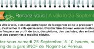 A vélo le 25 Septembre!