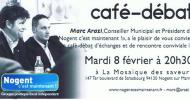 Prochain café-débat Nogent c'est maintenant! demain à la Mosaïque des saveurs (quartier Plaisance)