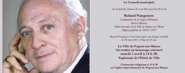 Le dernier hommage à Roland Nungesser