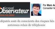 Découvrez ma tribune dans le Nouvel Observateur sur les risques liés aux antennes-relais de téléphonie mobile