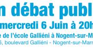 Santé et jeunesse en débat public le mercredi 6 juin à Nogent sur Marne
