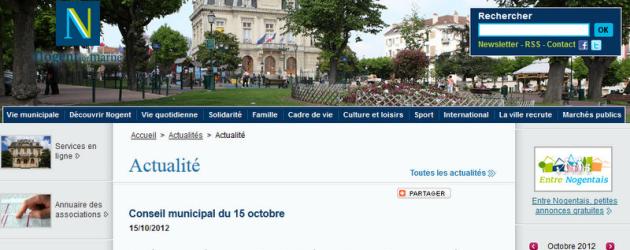 Demande un droit de réponse suite au communiqué du Maire sur le site de la ville