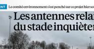 Mon interview dans le Parisien Val de Marne en réaction au projet d'installation de 3 nouvelles antennes-relais Bouygues Télecom