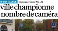 Mon interview ce jour dans le Parisien Val-de-Marne sur la vidéosurveillance à Nogent-sur-Marne