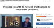 Signez cette pétition pour protéger la santé de millions d'utilisateurs de téléphones portables