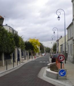 L'Avenue Val de Beauté à Nogent sur Marne après sa rénovation
