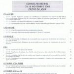 ordre du jour du CM du 16 novembre 2009 p1