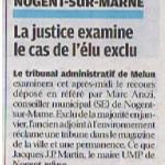 article du Parisien le 16 Février 2010