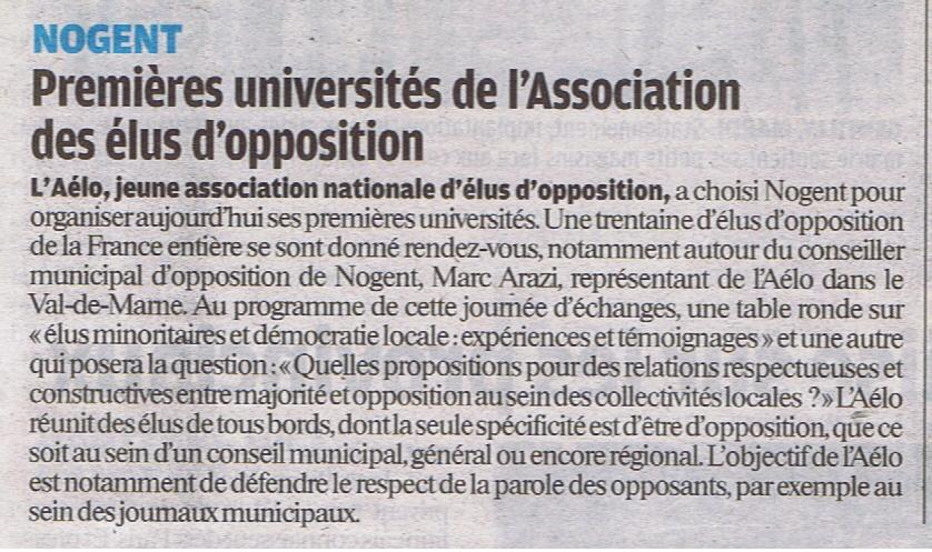 AELO Le parisien vdm 22 oct 2011