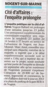 le Parisien Val de Marne, vendredi 16 Juillet