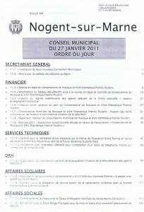 ordre du jour du CM 27 janv 2011p1