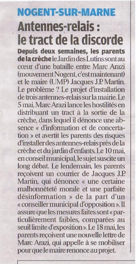 le parisien vdm antennes mairie 23 mai 2011
