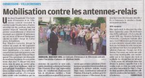 Le parisien vdm 08  juillet 2011 Ormesson -villecresnes v2