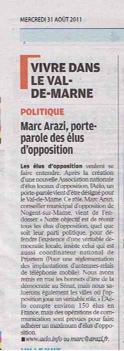 AELO le parisien 31 08 2011