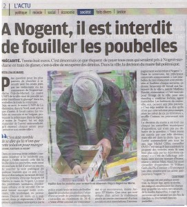 le parisien national 12 oct 2011 arrêté anti glanage