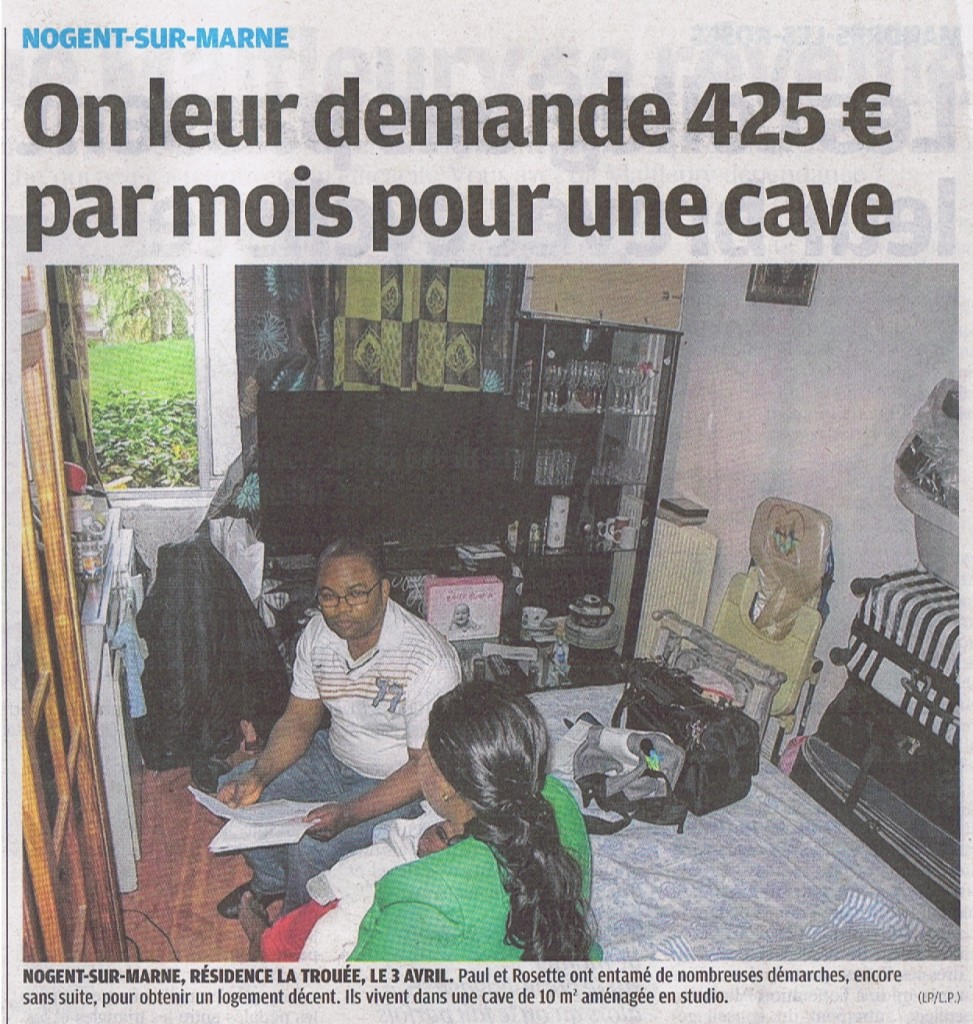 Article le parisien 13 avril 2012 Cave
