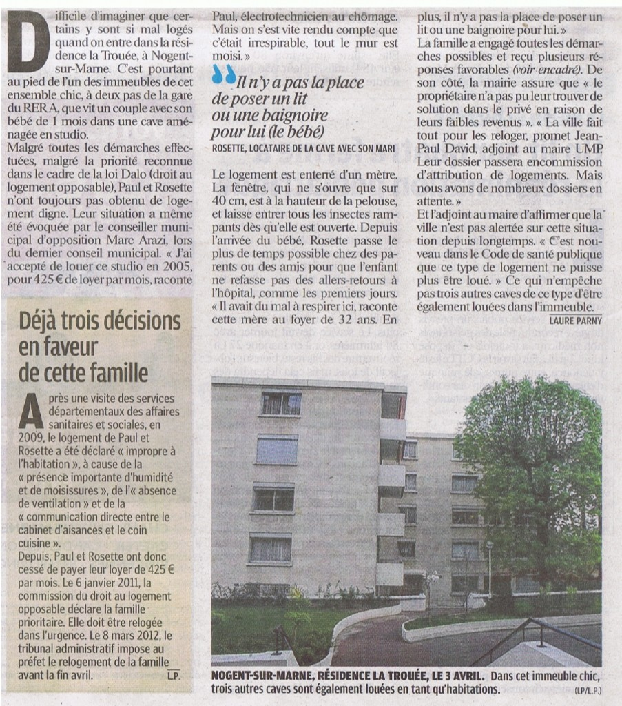 Article le parisien 13 avril 2012 Cave2
