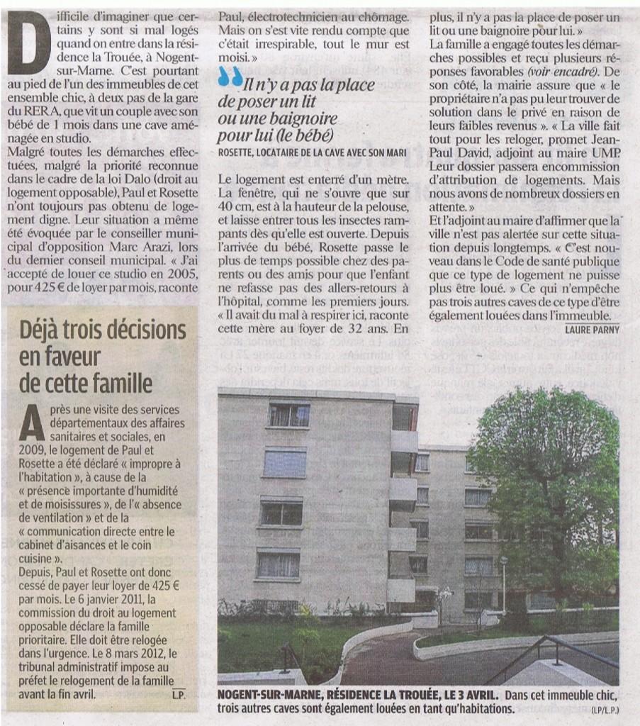 Article le parisien 13 avril 2012 Cave2