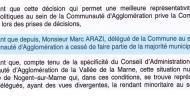 Communiqué de Marc Arazi, Conseiller Municipal de Nogent sur Marne, Président de Nogent c'est Maintenant!