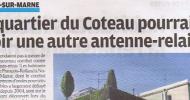 Aujourd'hui Le Parisien Val de Marne consacre un long article aux projets d'antennes-relais Free mobile
