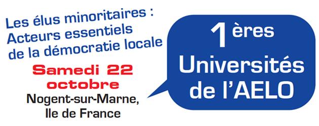 L'AELO organise sa 1ére université le 22 octobre 2011 à Nogent sur Marne