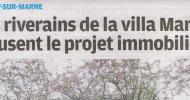 Interview dans le Parisien Val de Marne du 26 avril 2012
