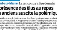 Déjeuner des séniors: Interview dans le Parisien Val de Marne