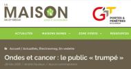 «Ondes et cancer : le public « trumpé »» par André Fauteux