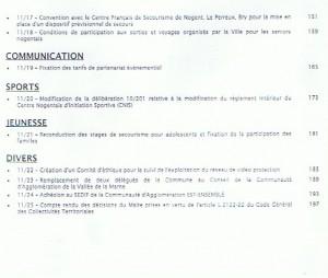 Ordre du jour du CM 27 janv 2011