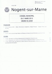 ordre du jour CM 5 MARS 2012